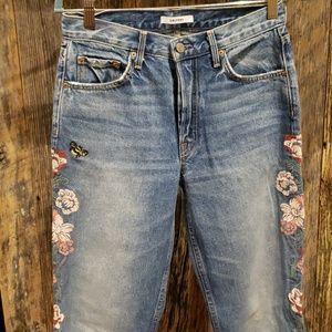 Grlfrnd embroidered jeans